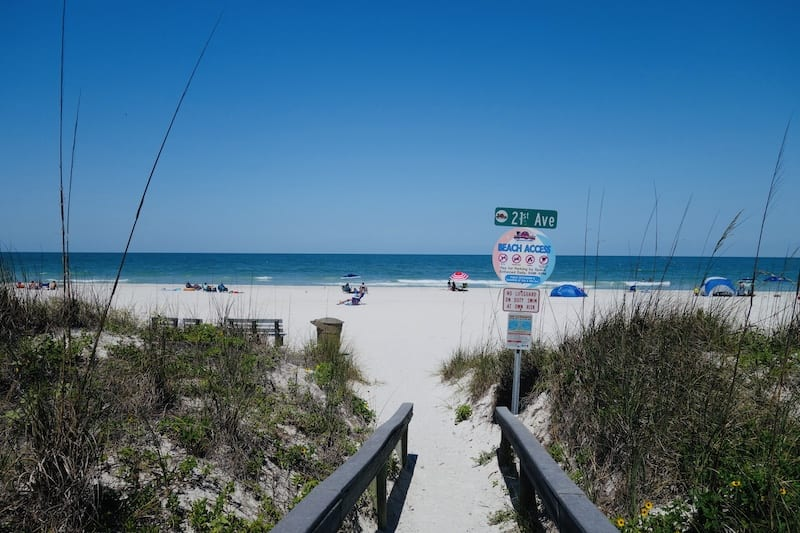 Pass-A-Grille Beach Entrance